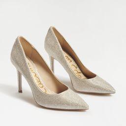 Sam Edelman Hazel Pointed Toe Heel Light Gold Mesh | Sam Edelman