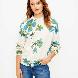 Floral Mock Neck Sweater | LOFT