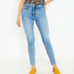 Fresh Cut High Rise Skinny Jeans in Classic Light Indigo Wash | LOFT