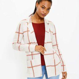 Plaid Pocket Sweater Blazer | LOFT
