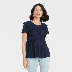 Women's Flutter Short Sleeve Blouse - Knox Rose™ | Target