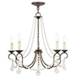 Livex Lighting 6515-71 Pennington 5 Light Chandelier, Hand Applied Venetian Golden Bronze | Amazon (US)