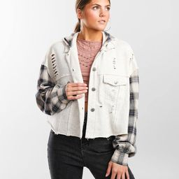 Pieced Flannel Hooded Jacket | Buckle