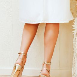 Sydd Gold Ankle Wrap High Heel Sandals   Lulus (US)