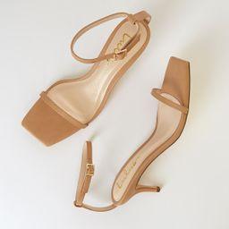 Saraih Beige Ankle Strap High Heel Sandals   Lulus (US)