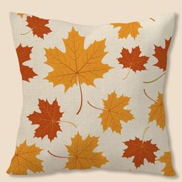 Maple Leaf Print Cushion Cover Without Filler | SHEIN