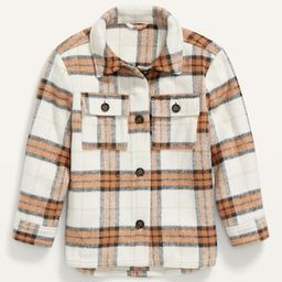 Plaid Textured Shirt Jacket for Girls | Old Navy (US)