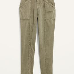 High-Waisted Garment-Dyed Utility Pants for Women   Old Navy (US)