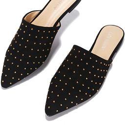 Cape Robbin Yvette Flat Sandals Slides for Women, Womens Mules Slip On Shoes   Amazon (US)