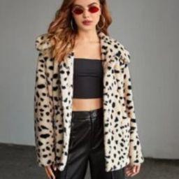 SHEIN Dalmatian Pattern Pocket Patched Coat   SHEIN