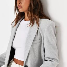 Grey Boyfriend Blazer Coat | Missguided (UK & IE)