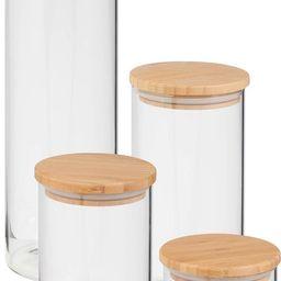 4 Piece Bamboo Lid Storage Jar Set | Nordstrom Rack