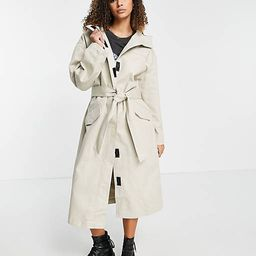 ASOS DESIGN hooded trench coat in stone   ASOS   ASOS (Global)