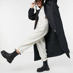 Weekday May hooded nylon long jacket in black   ASOS   ASOS (Global)