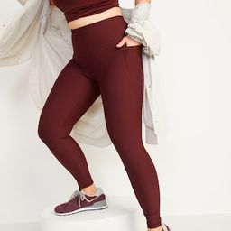 High-Waisted PowerSoft 7/8-Length Side-Pocket Leggings For Women | Old Navy (US)