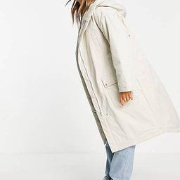 ASOS DESIGN waterfall parka coat in cream   ASOS   ASOS (Global)