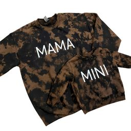 Mama + Mini Bleach Tie Dye Sweatshirt Set | Etsy (US)