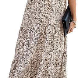 PRETTYGARDEN Women's Summer Casual Boho Dress Floral Print Ruffle Puff Sleeve High Waist Midi Bea... | Amazon (US)