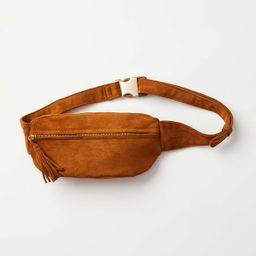 Faux Suede Sling Bag   LOFT