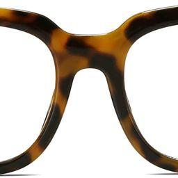SOJOS Oversized Square Anti Blue Light Blocking Glasses for Women Thick Computer Eyeglasses Double M | Amazon (US)