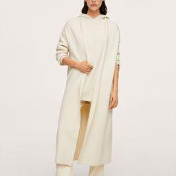 Knit Long Coatigan, White Coatigan, White Cardigan Coat, White Cardigan, White Long Cardigan   MANGO (US)