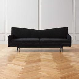 Bowtie Black Wool Sofa Model 3127 | CB2 | CB2