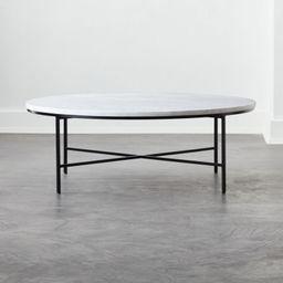 Irwin White Marble Coffee Table Model 8713 | CB2 | CB2