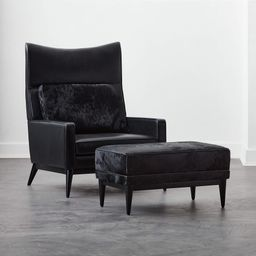 Embassy Black Lounge Chair Model 314 | CB2 | CB2