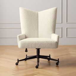 Bowtie Cream Boucle Office Chair Model 3002 | CB2 | CB2