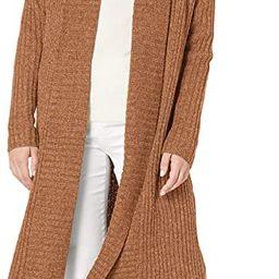 Amazon Essentials Women's Oversized Open Front Knee Length Sweater Coat | Amazon (US)