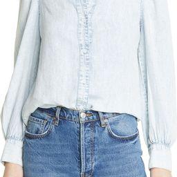 Angelica Blouson Sleeve Chambray Shirt | Nordstrom