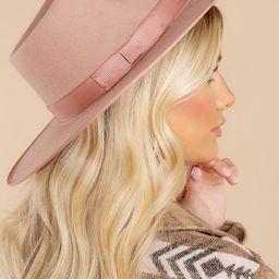 Top It Off Mauve Pink Hat | Red Dress