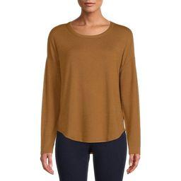 Time and Tru Women's Long Sleeve Hacci T-Shirt - Walmart.com | Walmart (US)