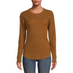 Time and Tru Women's Long Sleeve Thermal T-Shirt - Walmart.com | Walmart (US)