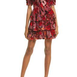 Khalia Velvet Burnout Tiered Dress   Nordstrom
