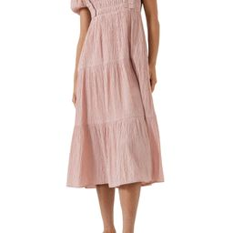 Smock Bodice Puff Sleeve Dress   Nordstrom