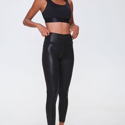 Active Faux Leather Leggings | Forever 21 (US)