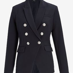Supersoft Twill Double Breasted Novelty Button Blazer | Express
