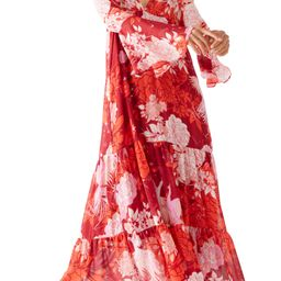 Moroccan Roll Floral Long Sleeve Maxi Dress   Nordstrom