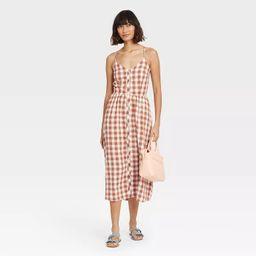 Women's Sleeveless Button-Front Dress - A New Day™ | Target