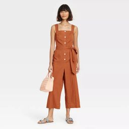 Women's Sleeveless Button-Front Jumpsuit - A New Day™ | Target