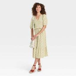 Women's Puff Short Sleeve Smocked Dress - Universal Thread™ Floral | Target