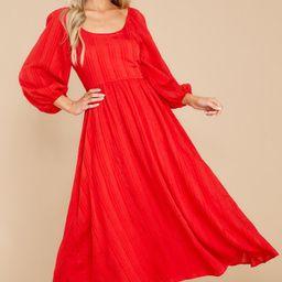 Daring Vision Red Maxi Dress   Red Dress