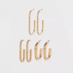SUGARFIX by BaubleBar Gold Huggie Hoop Earring Set - Gold | Target