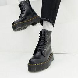 Dr Martens jadon 8-eye platform boots in black | ASOS | ASOS (Global)