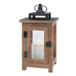 Better Homes & Gardens Medium Decorative Wood and Metal Lantern Candle Holder - Walmart.com | Walmart (US)