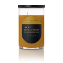 Manly Indulgence Clean Scented 22oz 2-Wick Candle, Yellow - Walmart.com | Walmart (US)