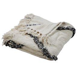 "LR Home Trellis Geometric Black / White 50"" x 60"" Easy Care Cotton Throw Blanket - Walmart.com | Walmart (US)"