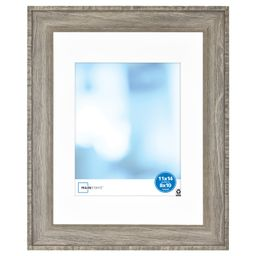Mainstays 11x14 Inch matted to 8x10 Inch Wood Gallery Frame, Rustic - Walmart.com | Walmart (US)