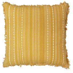 Better Homes & Gardens Decorative Throw Pillow, Reversible Stripe, Square, Yellow, 20''x20'', 1Pa... | Walmart (US)